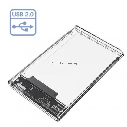 "2.5"" Enclosure Transparent usb 2.0"