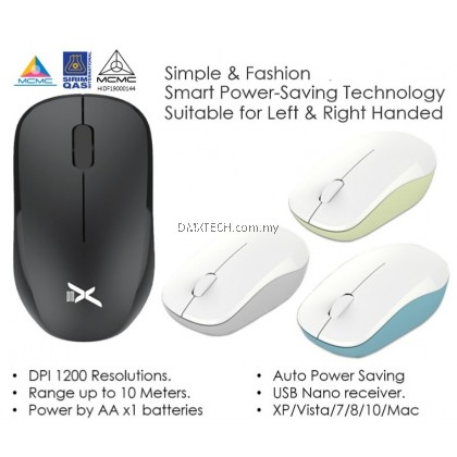 DMX Wireless Mouse Classic Ergonomic Design