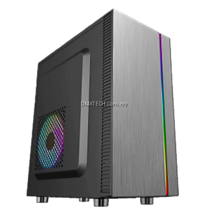 DMX MICRO ATX Tower Case M03 with Built IN RGB Strip Front Panel