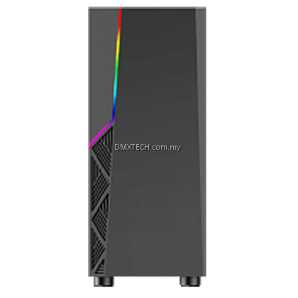 DMX RGB ATX TOWER CASE P02 WITH BUILT IN RGB STRIP FRONT PANEL