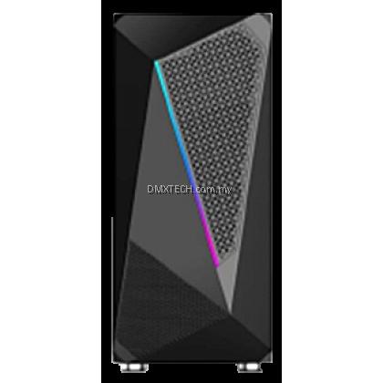 DMX GAMING RGB ATX TOWER CASE G25 WITH BUILT IN RGB STRIP LIGHT